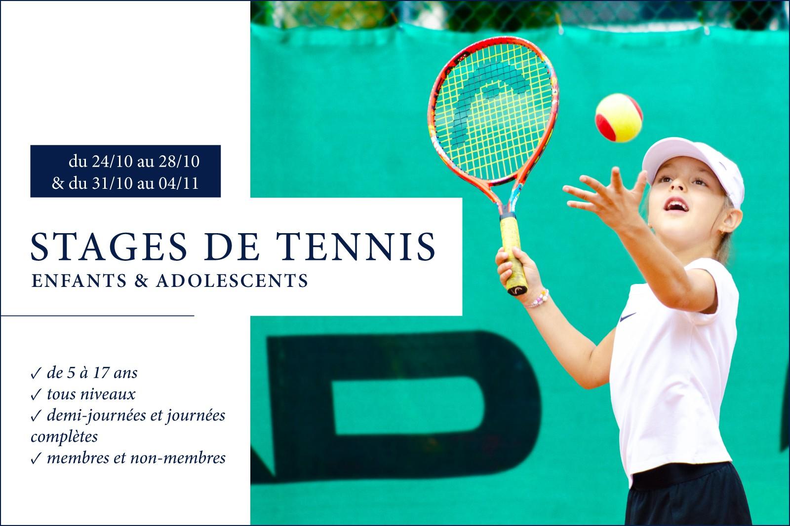 STAGES DE TENNIS - Pour les enfants et les adolescents